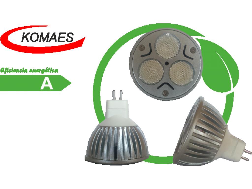 Lámpara LED dicroica 3x1 Komaes